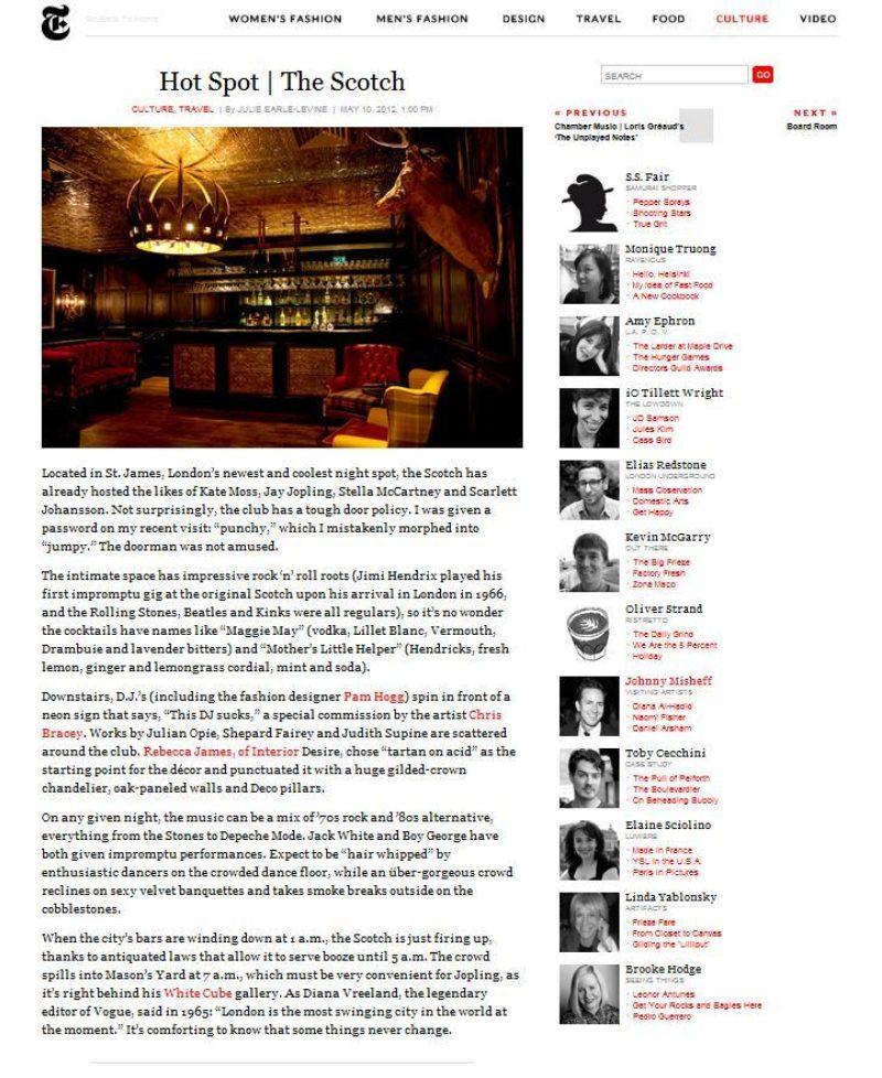 Ny Times Scotch May 2012