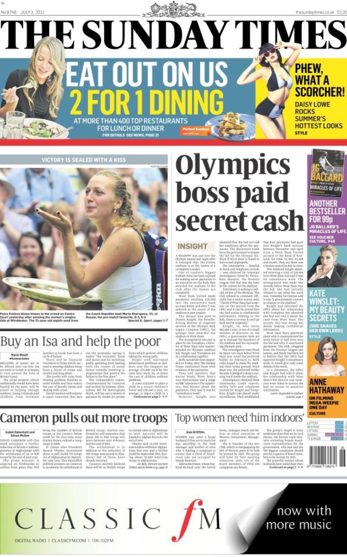 Sunday Times Story On Olympic Stadium Scandal July 3 2011