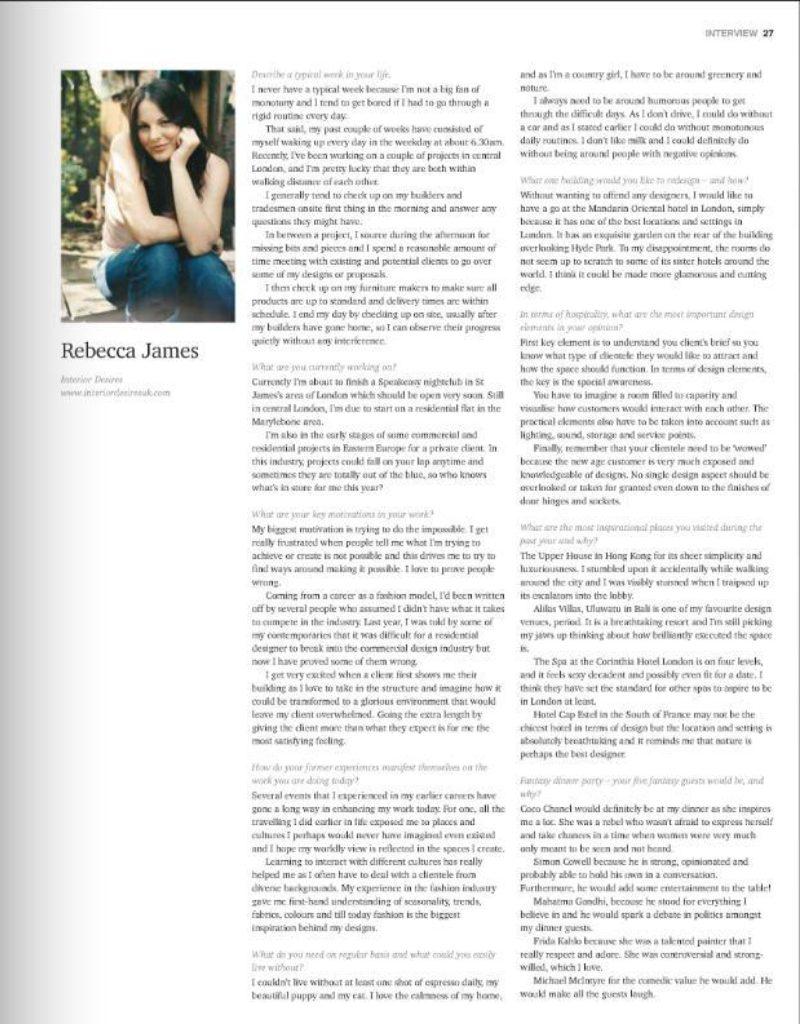 Hospitality Interiors Jan Page 27